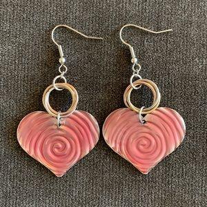 Jewelry - Pink Heart Earrings